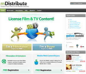 mDistribute  The Licensing Marketplace for Mobile Video Content