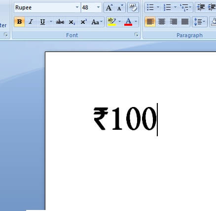 rupee in doc Type Rupee Symbol with your Keyboard   Buddy Tuts