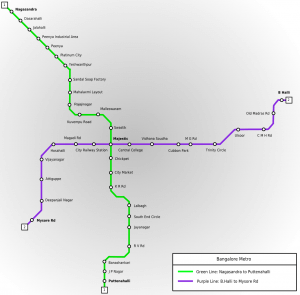 bangalore metro map 300x295 Bangalore Namma Metro   Launch, TimeTable, Fare, Route Map, Stations, Smart Card