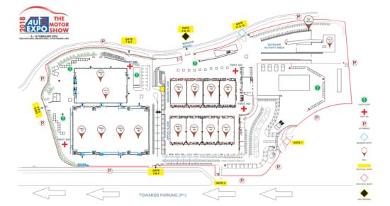 Auto Expo 2018 Site Plan
